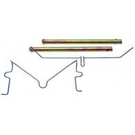 Kit Conjunto de Fixação da Pastilha 01 Roda Dianteiro - Hilux